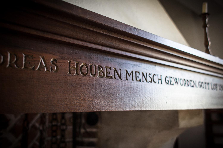 Den 11. Dez. in het Jahr 1821 ist Joannes Andreas Houben Mensch geworden. Gott lof und Dank'.