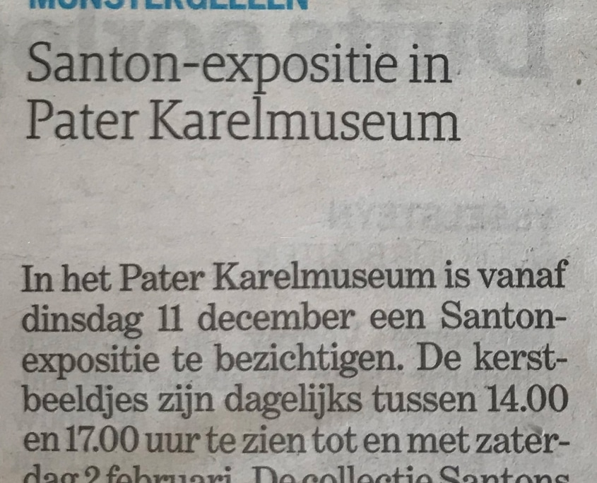 Pater Karel Kapel in de media De Limburger regio Santons